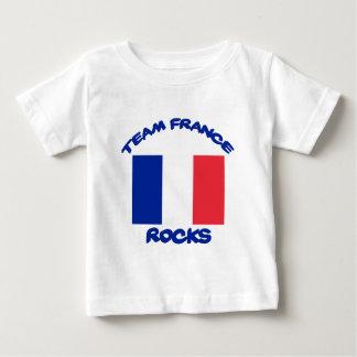 Camiseta Para Bebê esfrie e tendendo o design francês da bandeira