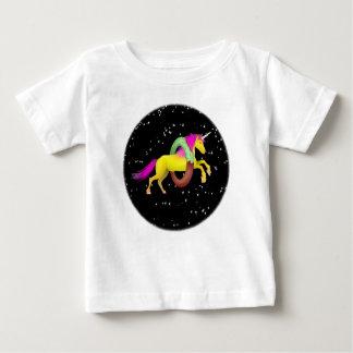 Camiseta Para Bebê Espaço da rosquinha da filhós do unicórnio