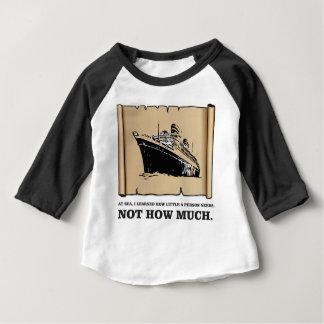 Camiseta Para Bebê espaço em um barco yeah