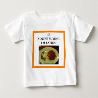 Camiseta Para Bebê espaguetes