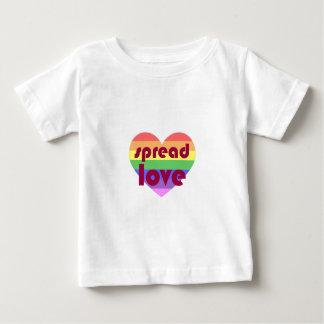 Camiseta Para Bebê Espalhe o amor alegre