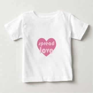 Camiseta Para Bebê Espalhe o amor (geral)