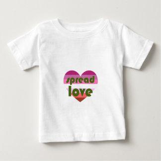 Camiseta Para Bebê Espalhe o amor lésbica