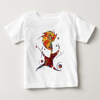 Camiseta Para Bebê Espanessua - flor espiral imaginária