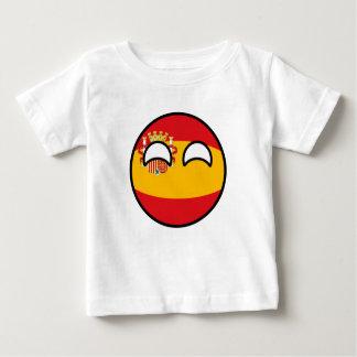 Camiseta Para Bebê Espanha Geeky de tensão engraçada Countryball