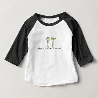 Camiseta Para Bebê Espanhol-Ferreiro