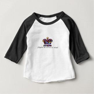 Camiseta Para Bebê Espanhol-Rainha