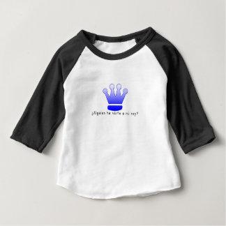 Camiseta Para Bebê Espanhol-Rei