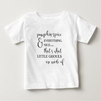 Camiseta Para Bebê Especiaria e tudo da abóbora t-shirt agradável do