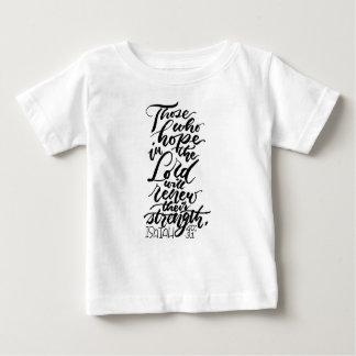 Camiseta Para Bebê Esperança no senhor Escovadela Roteiro