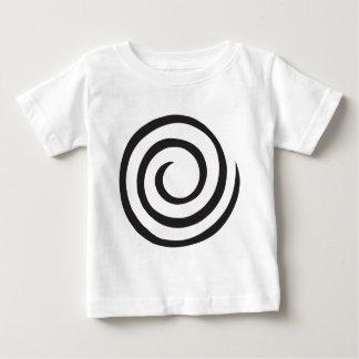 Camiseta Para Bebê Espiral abstrata
