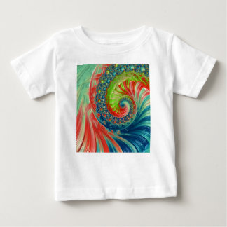 Camiseta Para Bebê Espiral brilhante