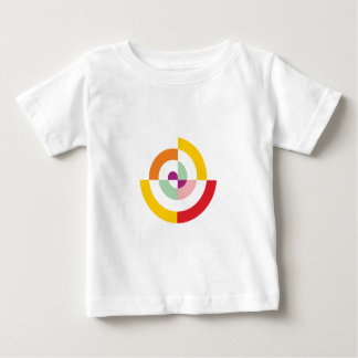 Camiseta Para Bebê Espiral colorida