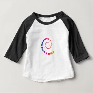 Camiseta Para Bebê Espiral multicolorido