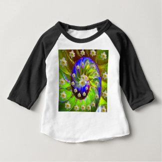 Camiseta Para Bebê ESPIRAL VERDE VIOLETA moderna & DAFFODILS do