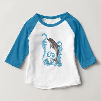Camiseta Para Bebê Espirro do golfinho