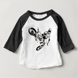 Camiseta Para Bebê Esporte de Motorcyle do motocross do pop art