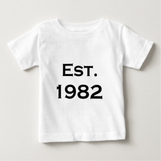 Camiseta Para Bebê estabelecido 1982