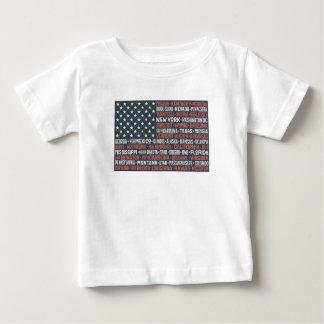 Camiseta Para Bebê Estados & capitais dos Estados Unidos da América |