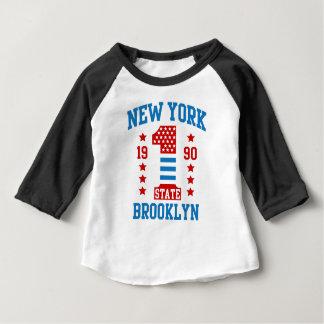 Camiseta Para Bebê Estados de Nova Iorque Brooklyn
