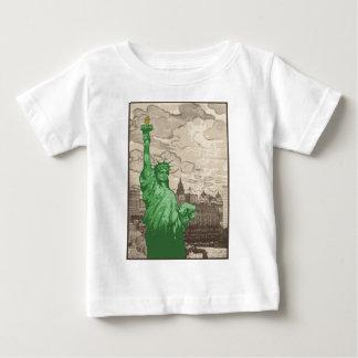Camiseta Para Bebê Estátua da liberdade clássica