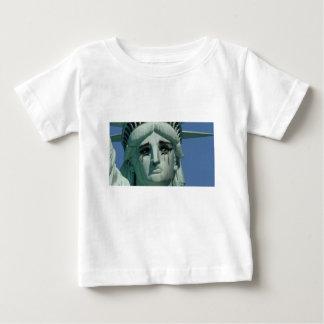 Camiseta Para Bebê Estátua da liberdade de grito