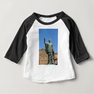 Camiseta Para Bebê Estátua de Trajan em Roma, Italia