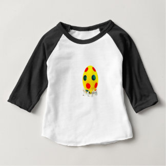 Camiseta Para Bebê Estatuetas diminutas que pintam o ovo da páscoa