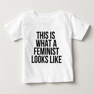 Camiseta Para Bebê Este é o que uma feminista olha como - feminismo