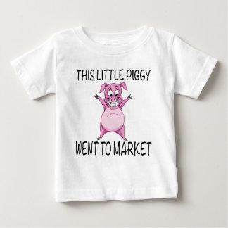 Camiseta Para Bebê Este leitão pequeno foi introduzir no mercado