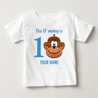 Camiseta Para Bebê Este macaco de Lil é um primeiro aniversário dois