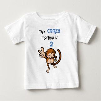Camiseta Para Bebê Este macaco louco é 2