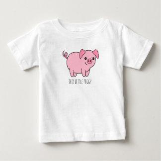 Camiseta Para Bebê Este t-shirt leitão pequeno do jérsei da multa do