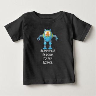 Camiseta Para Bebê Esteja para trás indo tentar o gato bonito do