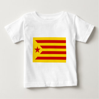 Camiseta Para Bebê Estelada Roja - independentista Catalana da