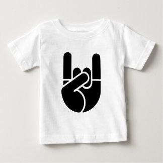 Camiseta Para Bebê Estêncil da mão da rocha