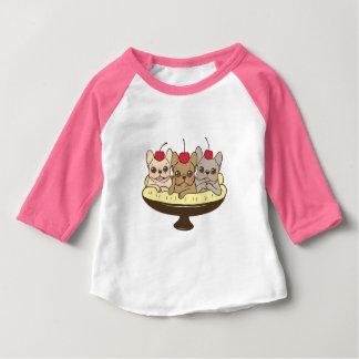 Camiseta Para Bebê Estes Frenchies querem ser sua separação de banana