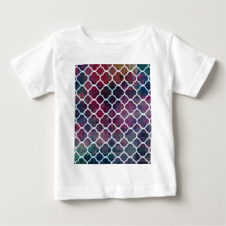 Camiseta Para Bebê Estilo cor-de-rosa do marroquino do Grunge
