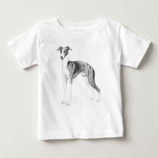 Camiseta Para Bebê Estilo do galgo italiano