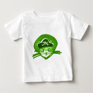 Camiseta Para Bebê estilo dos desenhos animados do gato do pirata