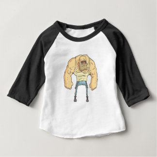 Camiseta Para Bebê Estilo esboçado da história em quadrinhos da