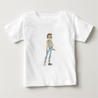 Camiseta Para Bebê Estilo esboçado da história em quadrinhos do punk