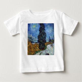 Camiseta Para Bebê Estrada secundária de Vincent van Gogh em Provence