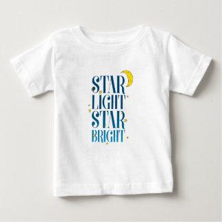 Camiseta Para Bebê Estrela clara da estrela brilhante