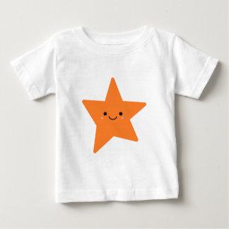 Camiseta Para Bebê Estrela da laranja de Kawaii