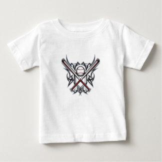 Camiseta Para Bebê Estrela de basebol da juventude