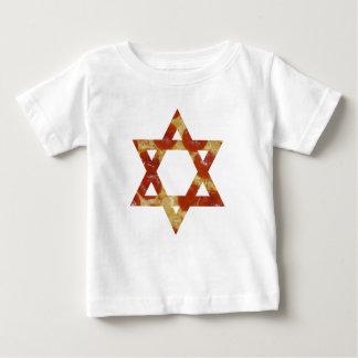 Camiseta Para Bebê estrela de David da pizza