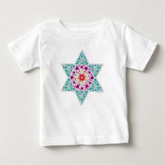 Camiseta Para Bebê Estrela de David Magen David da cor