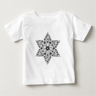 Camiseta Para Bebê Estrela de David preto e branco do vintage - Magen
