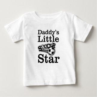 Camiseta Para Bebê Estrela de futebol do pai pouca
